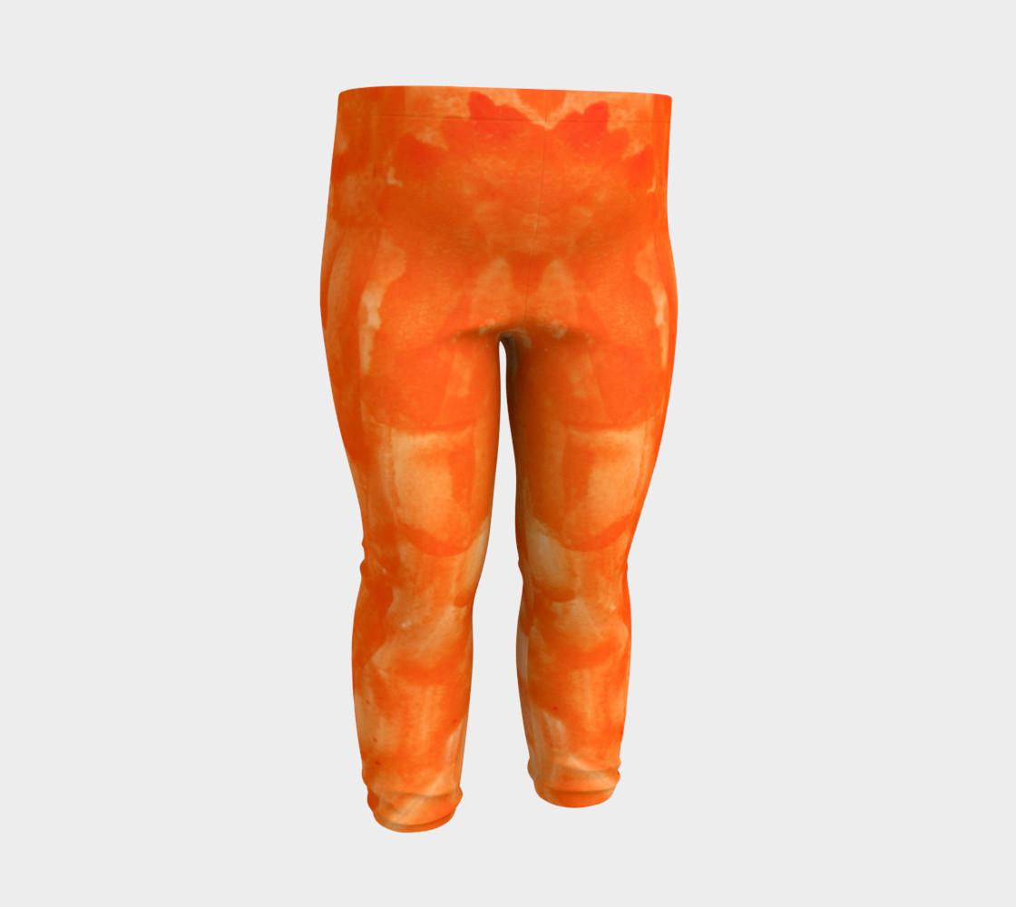 Orange Explosion Baby Leggings preview #3