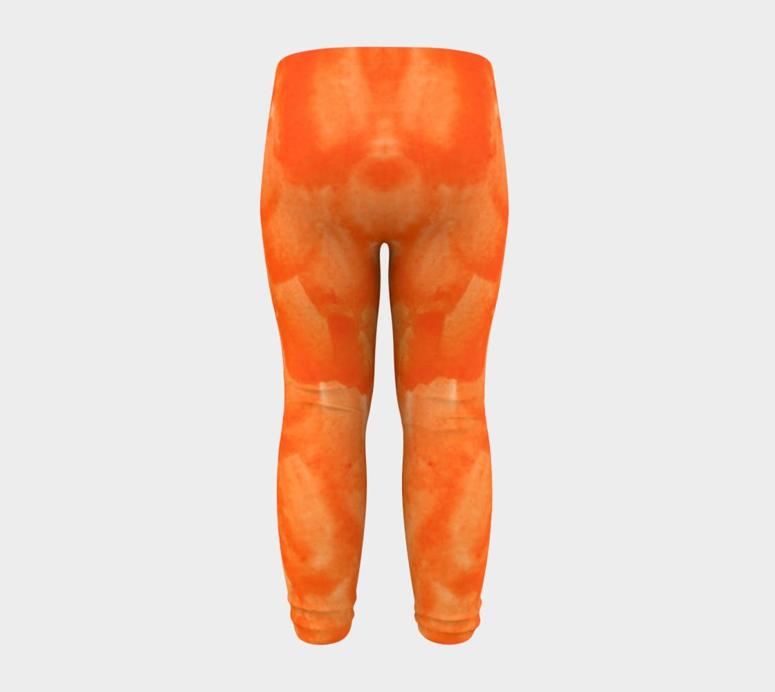 Orange Explosion Baby Leggings preview #8
