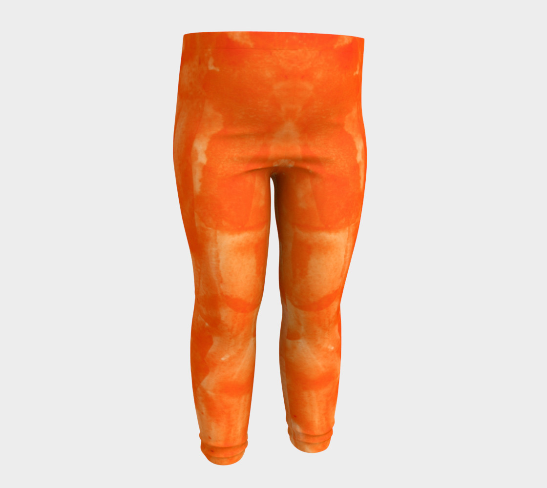Orange Explosion Baby Leggings preview #4