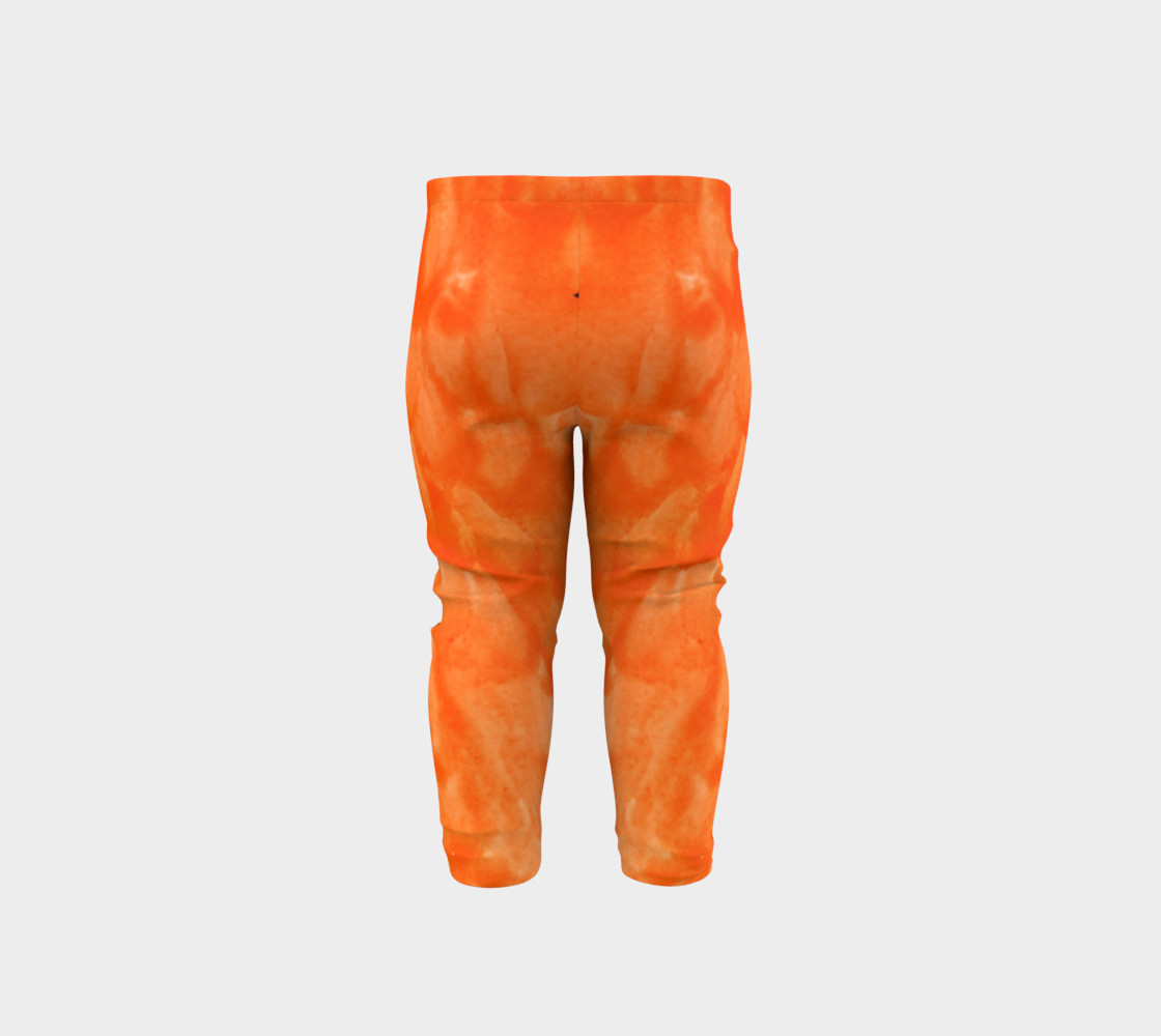 Orange Explosion Baby Leggings preview #5