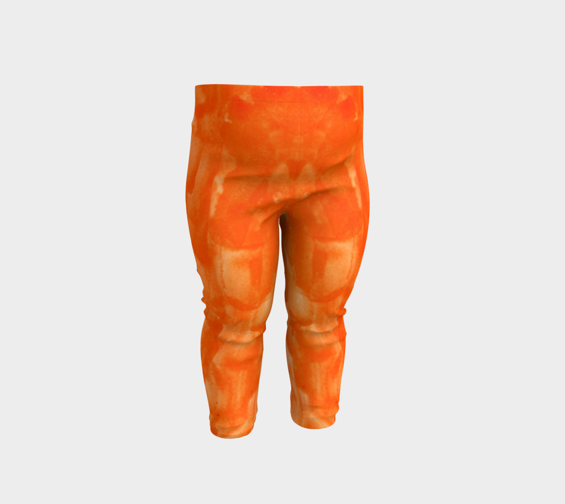 Orange Explosion Baby Leggings preview #1