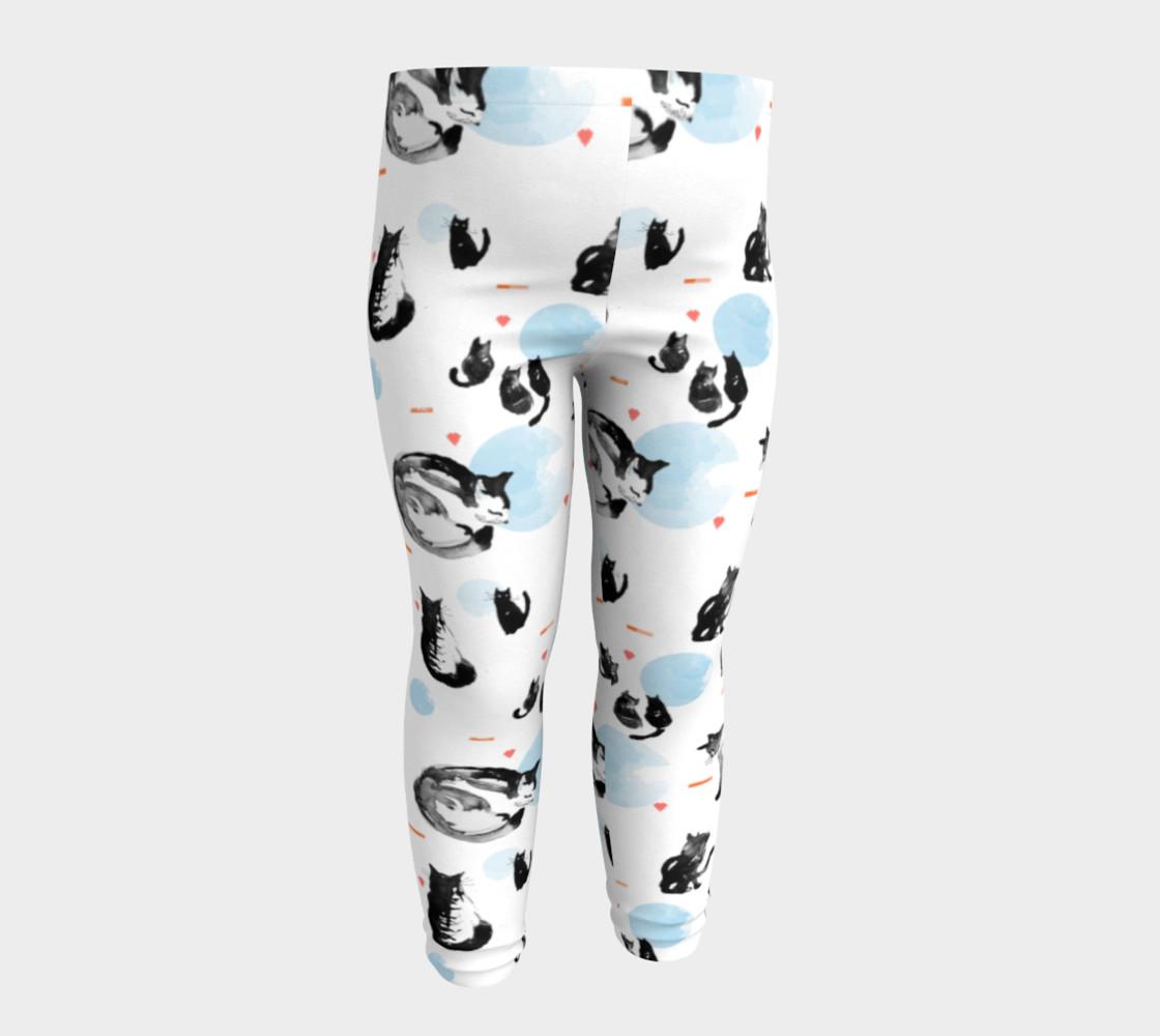 Aperçu de Blue Moon Cats baby leggings #4