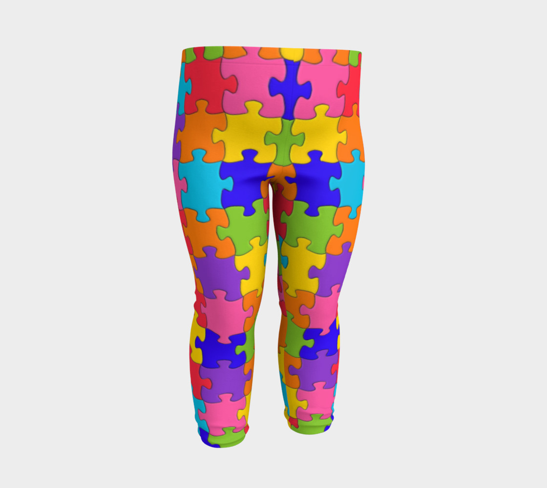 Funny Colorful Jigsaw Puzzle Pieces preview #3