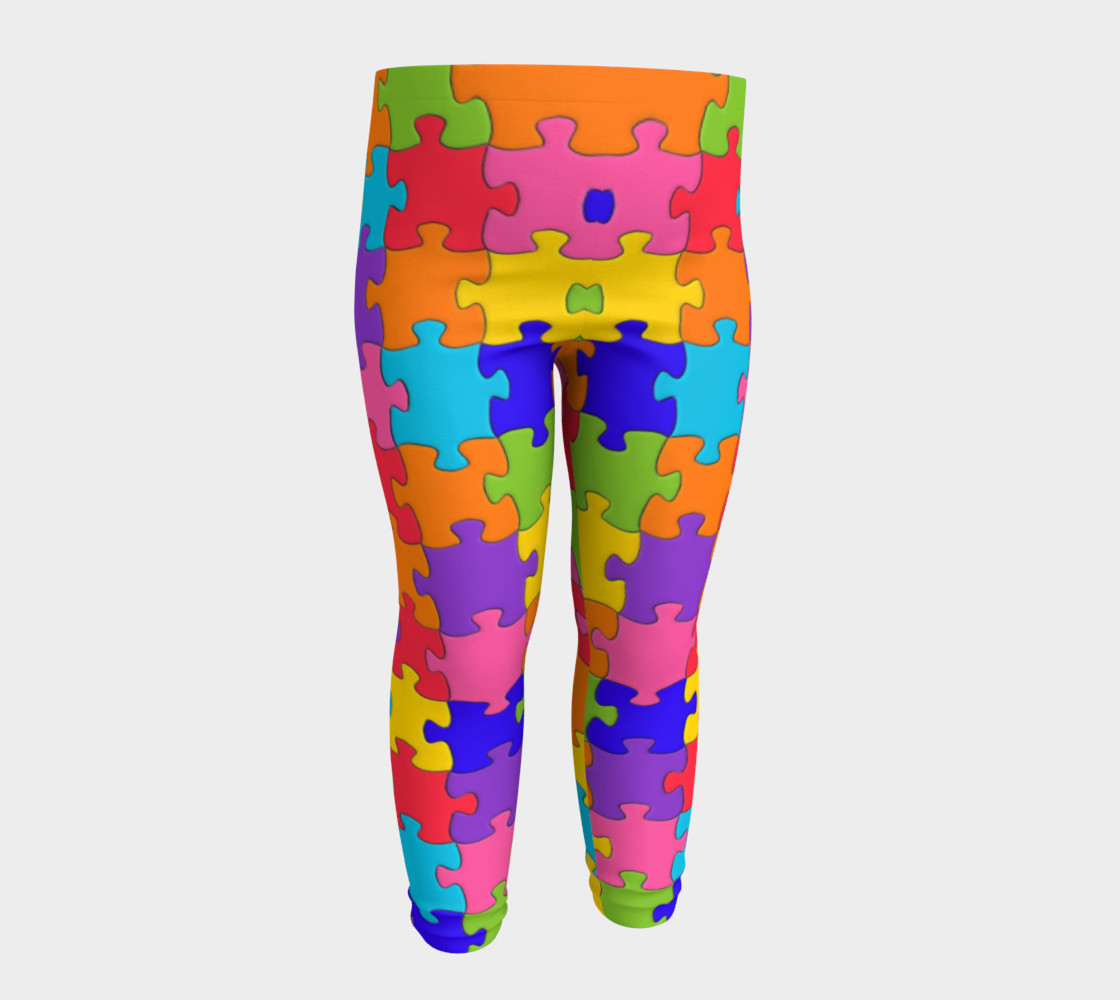 Funny Colorful Jigsaw Puzzle Pieces preview #4