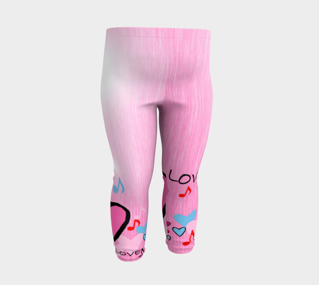 Aperçu de Little Girls leggings Hearts #3