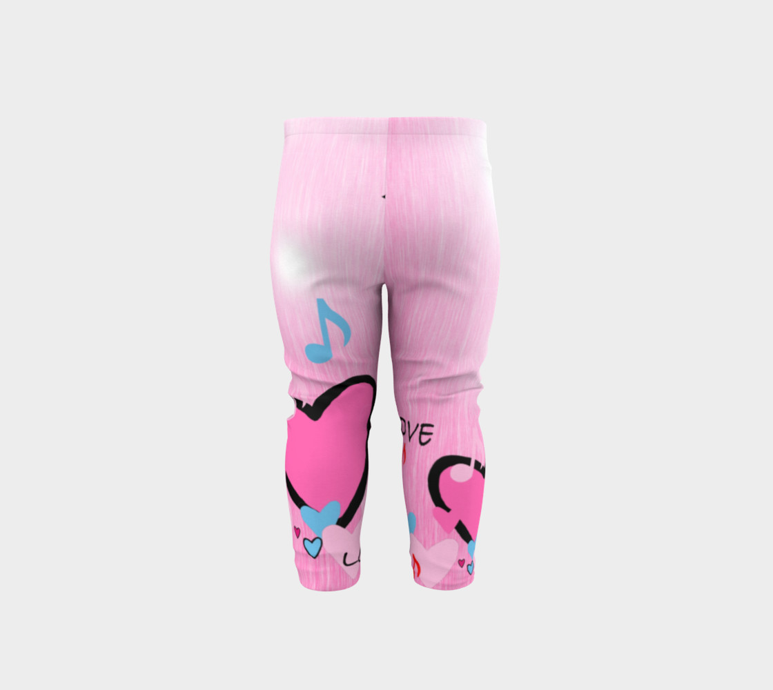 Aperçu de Little Girls leggings Hearts #5
