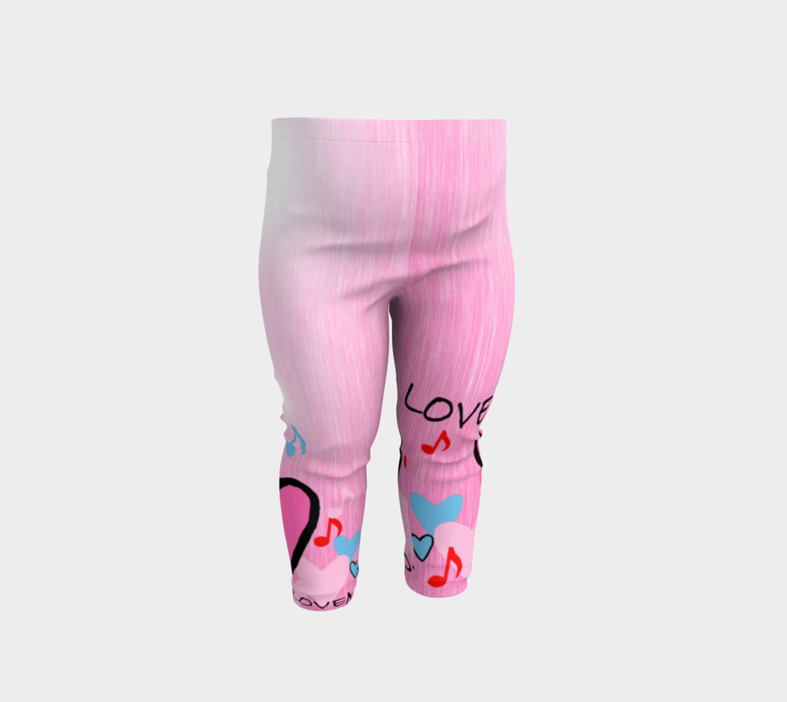 Aperçu de Little Girls leggings Hearts #1