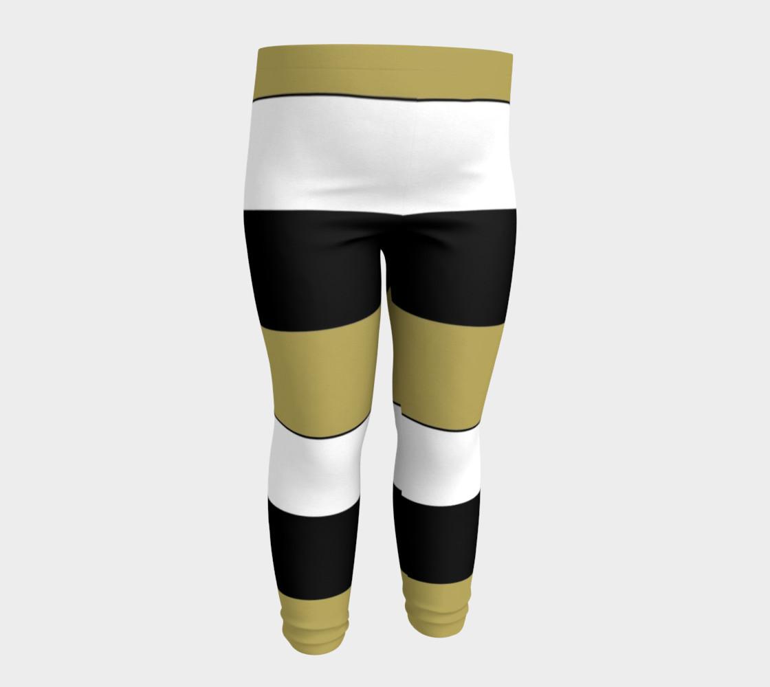 Elegant Black White Brown Gold Stripes Pattern preview #4