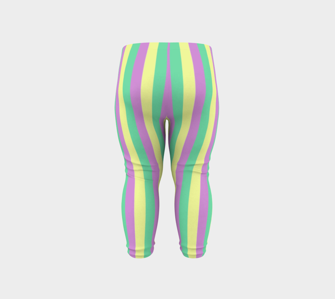 Mardi Gras Leggings- Stripes (Baby/Kids) preview #6