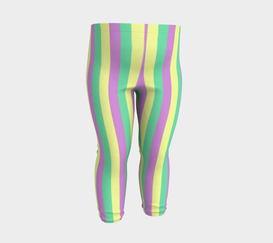 Mardi Gras Leggings- Stripes (Baby/Kids) preview #3