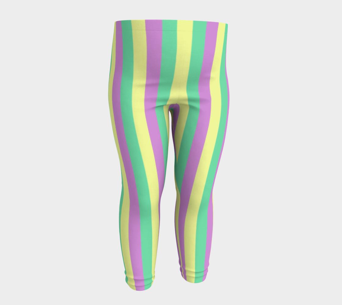 Mardi Gras Leggings- Stripes (Baby/Kids) preview #4