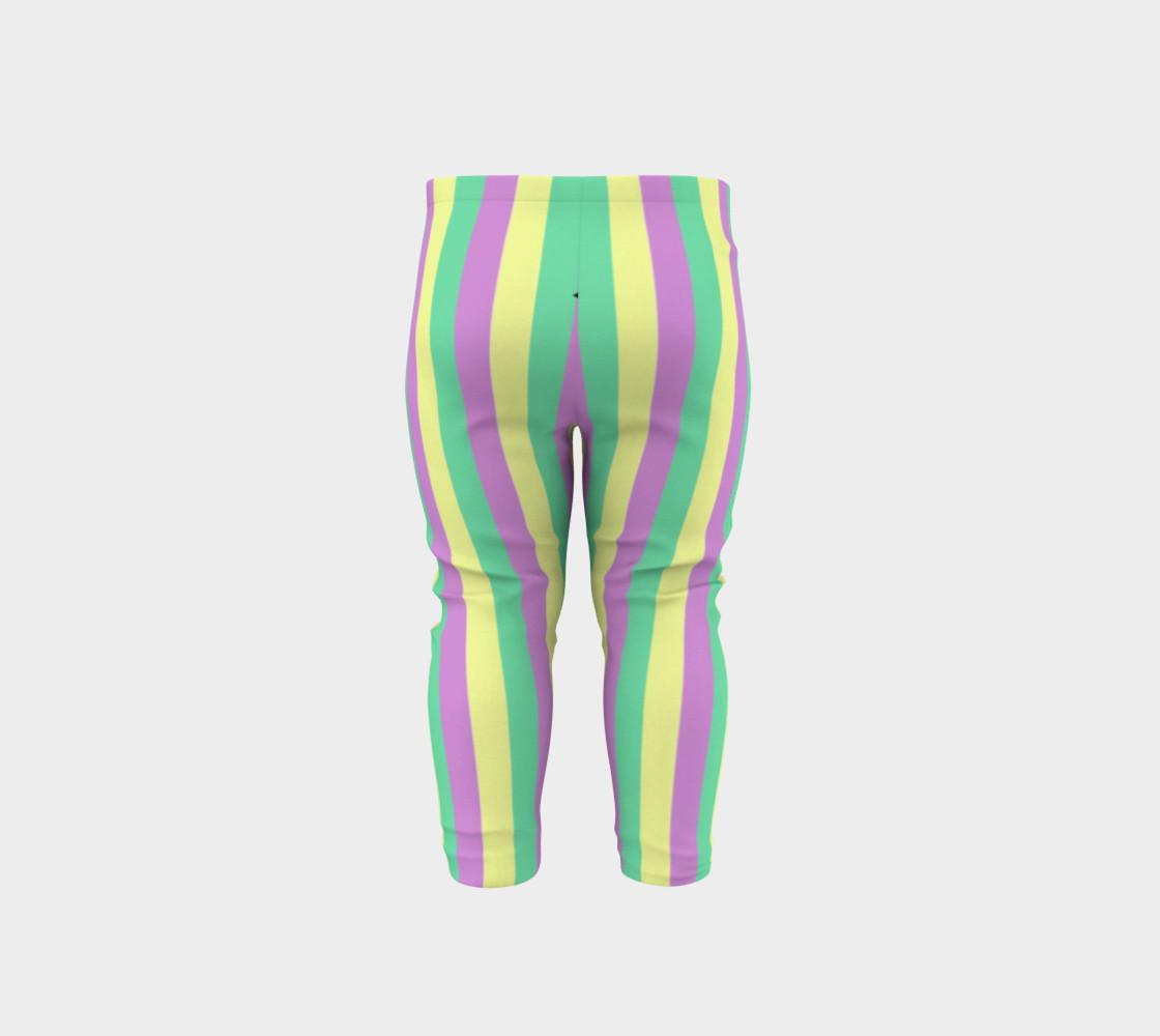 Mardi Gras Leggings- Stripes (Baby/Kids) preview #5