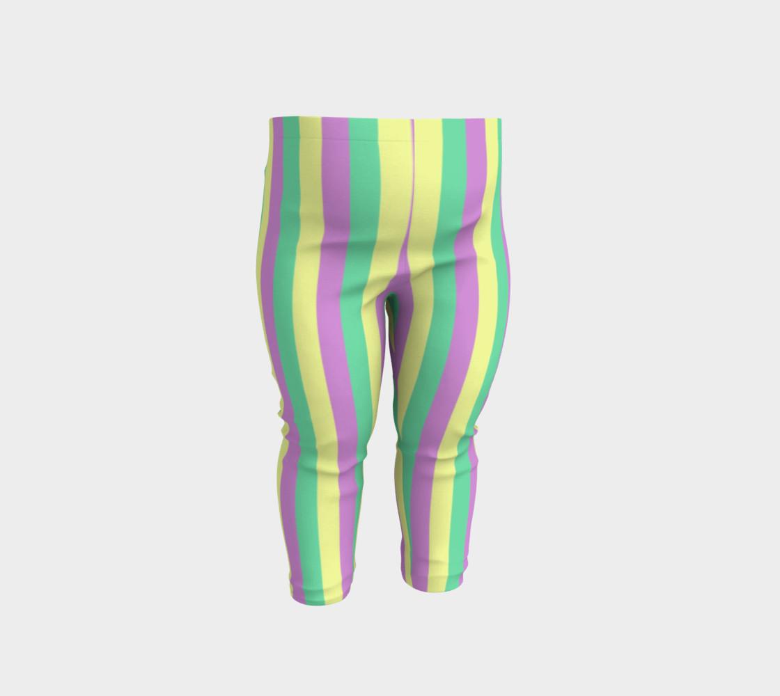Mardi Gras Leggings- Stripes (Baby/Kids) preview #1