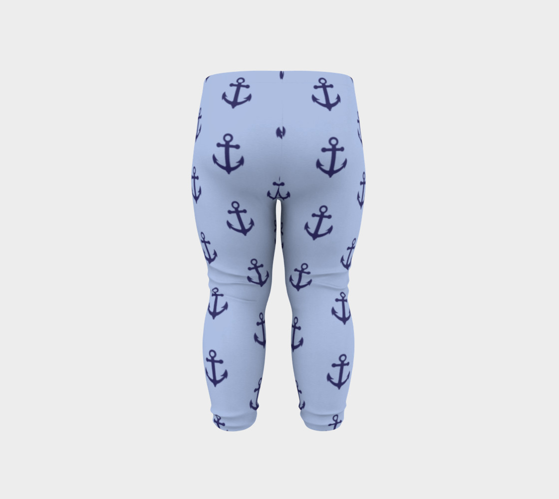 Anchors - Dark Blue Anchors on Light Blue Bg preview #6