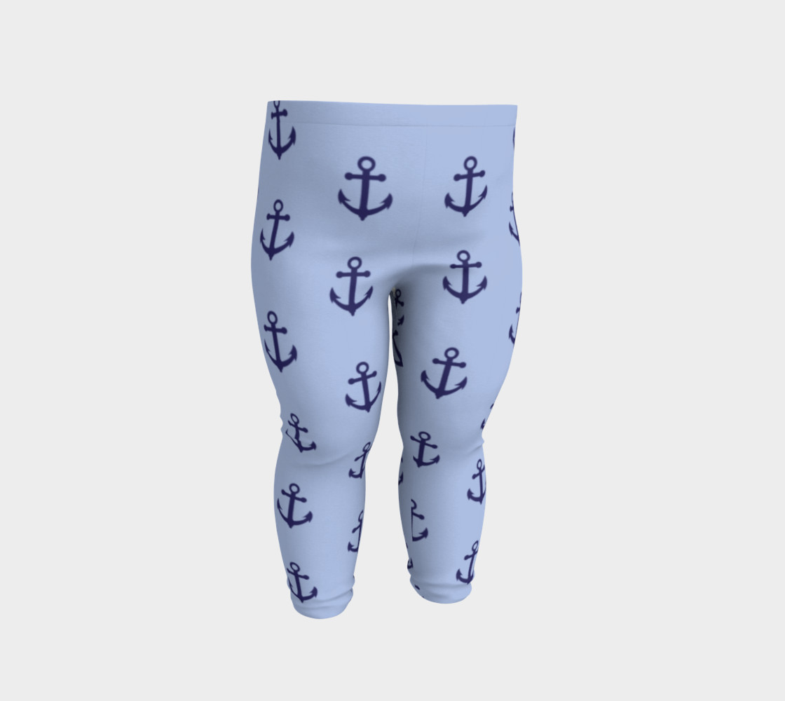 Anchors - Dark Blue Anchors on Light Blue Bg preview #2