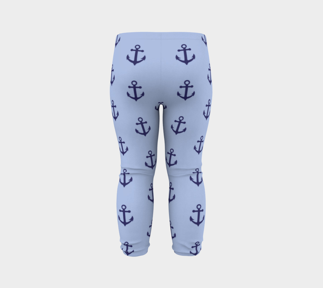 Anchors - Dark Blue Anchors on Light Blue Bg preview #7