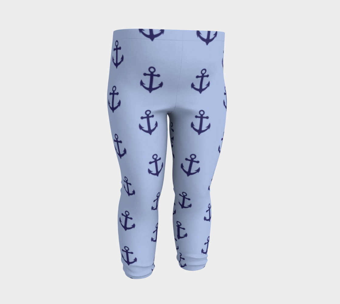 Anchors - Dark Blue Anchors on Light Blue Bg thumbnail #4