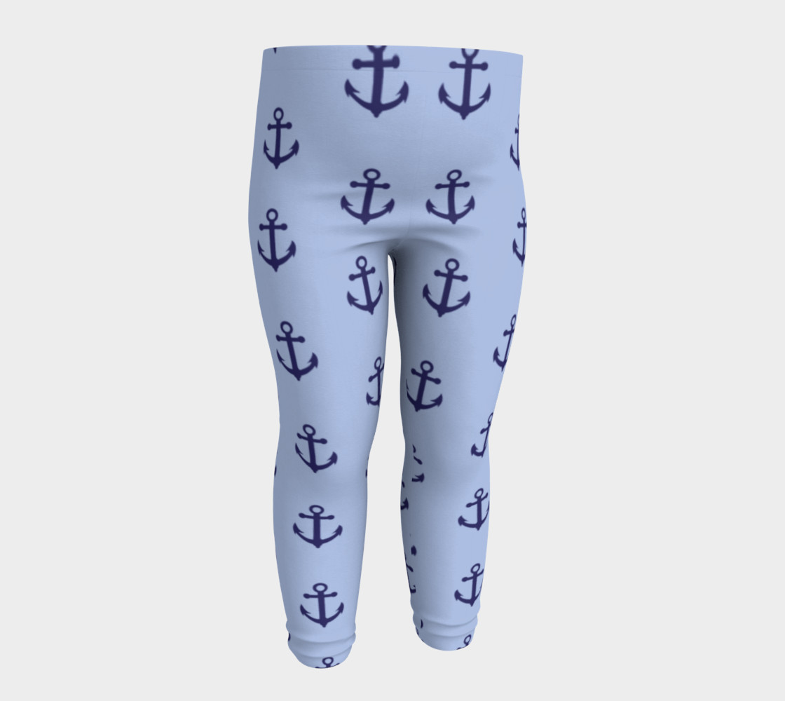 Anchors - Dark Blue Anchors on Light Blue Bg thumbnail #5