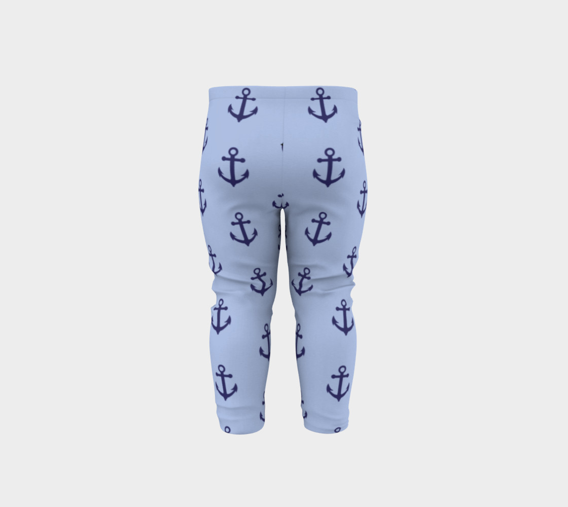 Anchors - Dark Blue Anchors on Light Blue Bg preview #5