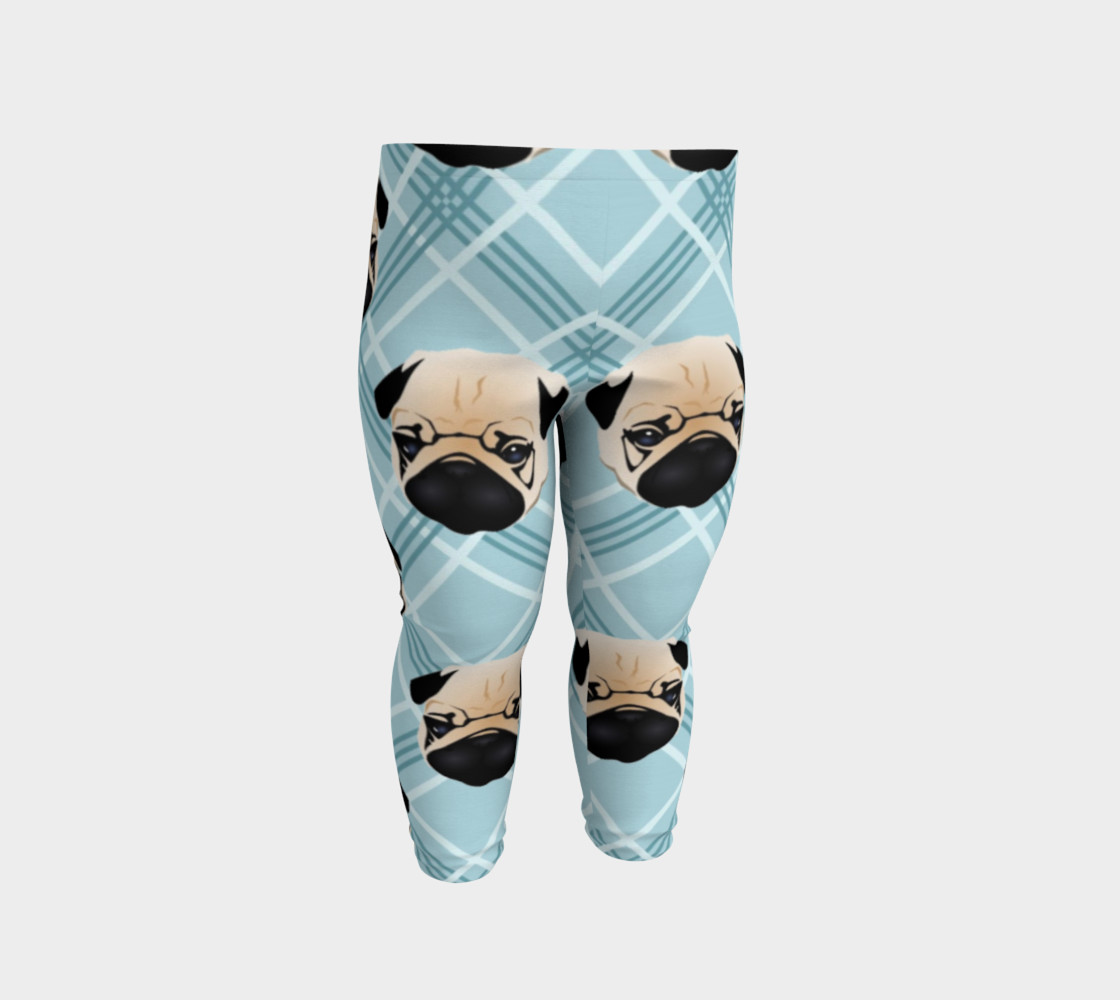 Pug Faces on Plaid preview #2