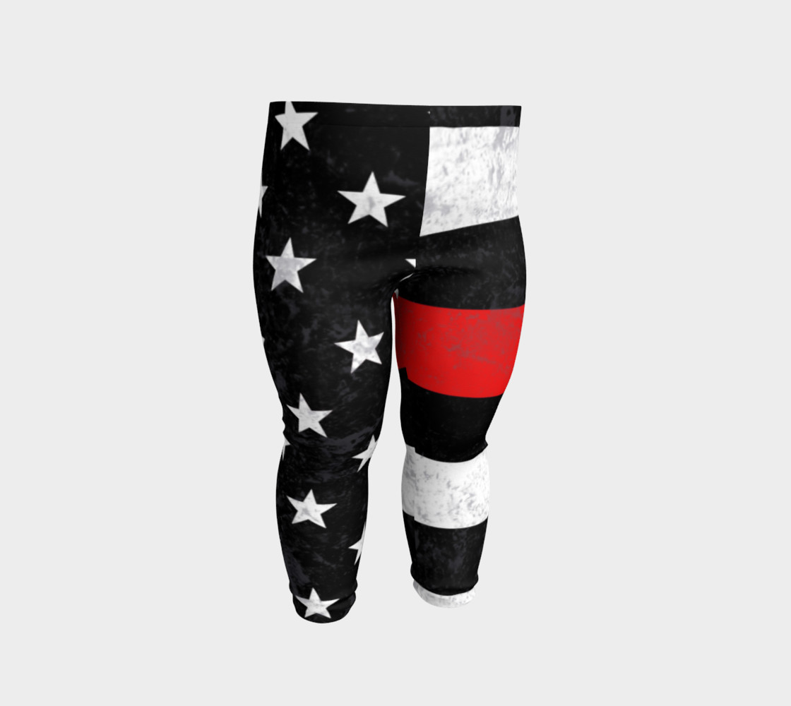 Thin Red Line Toddler Leggings preview #2