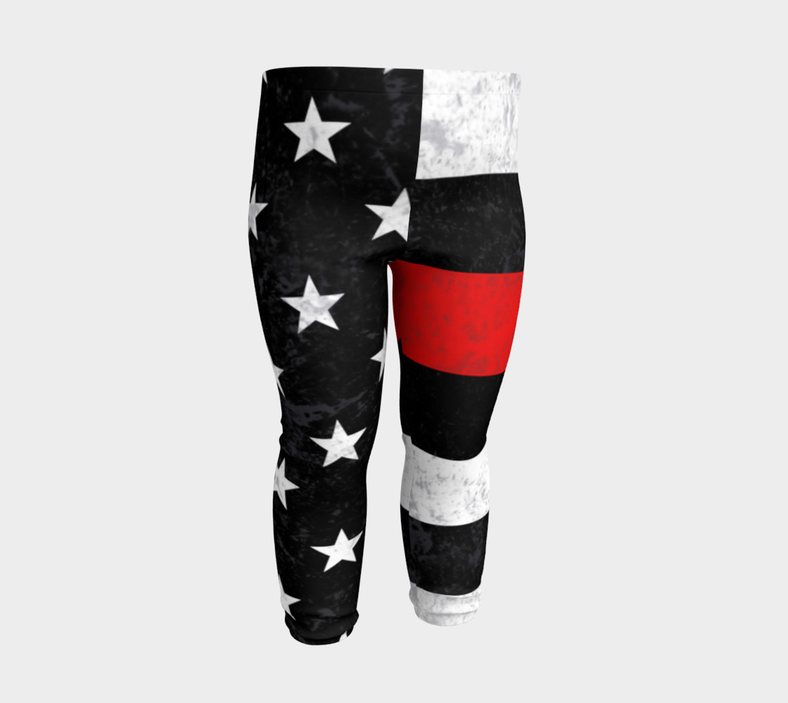 Thin Red Line Toddler Leggings preview #3