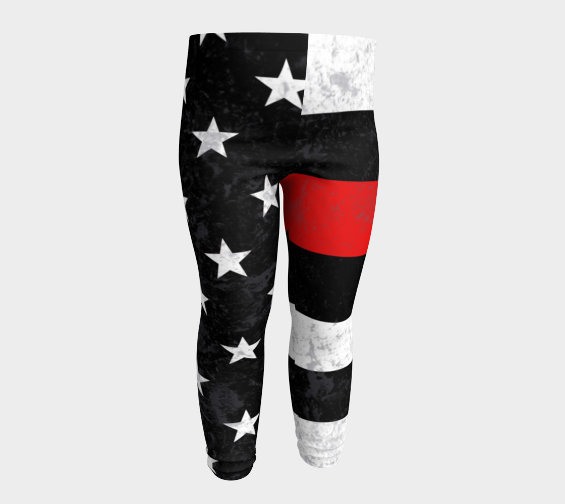 Thin Red Line Toddler Leggings preview #4