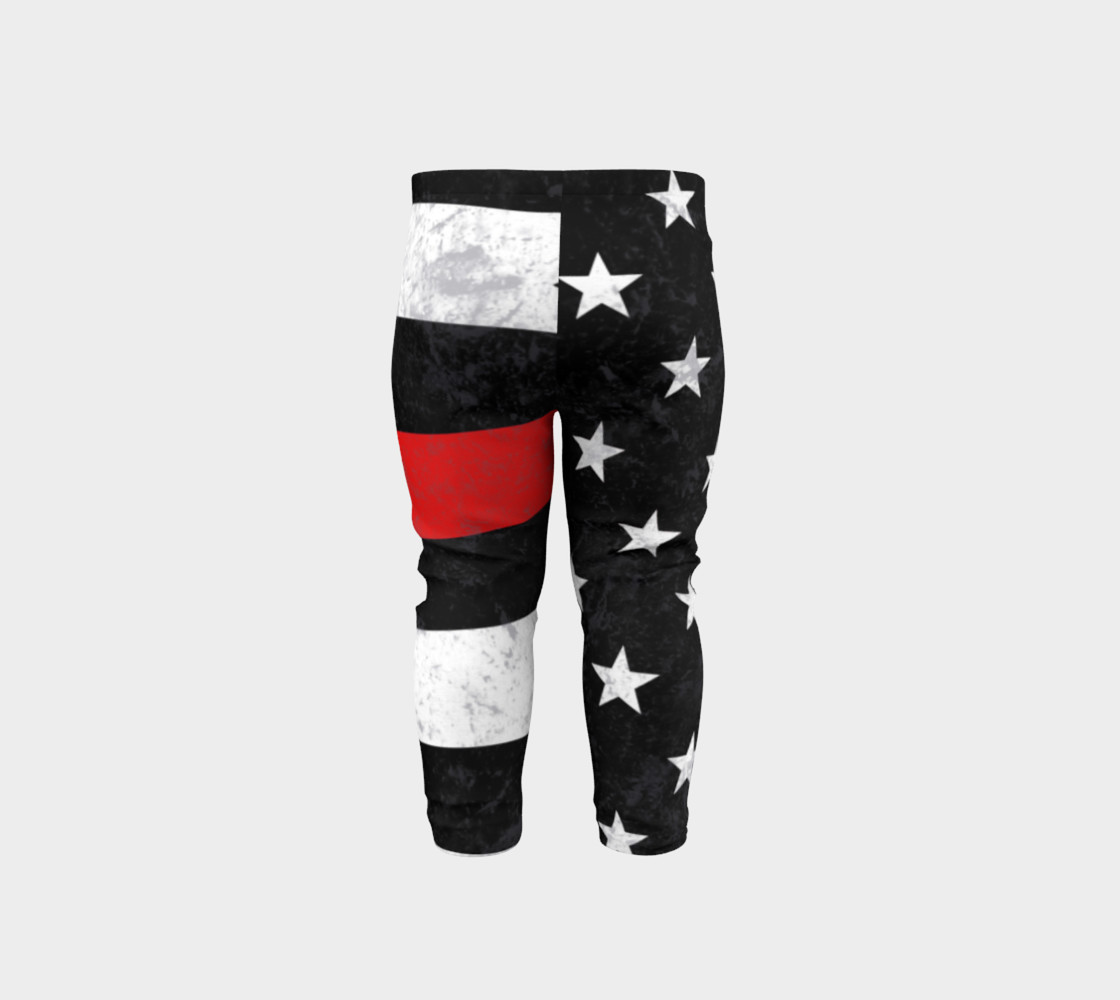Aperçu de Thin Red Line Toddler Leggings #5