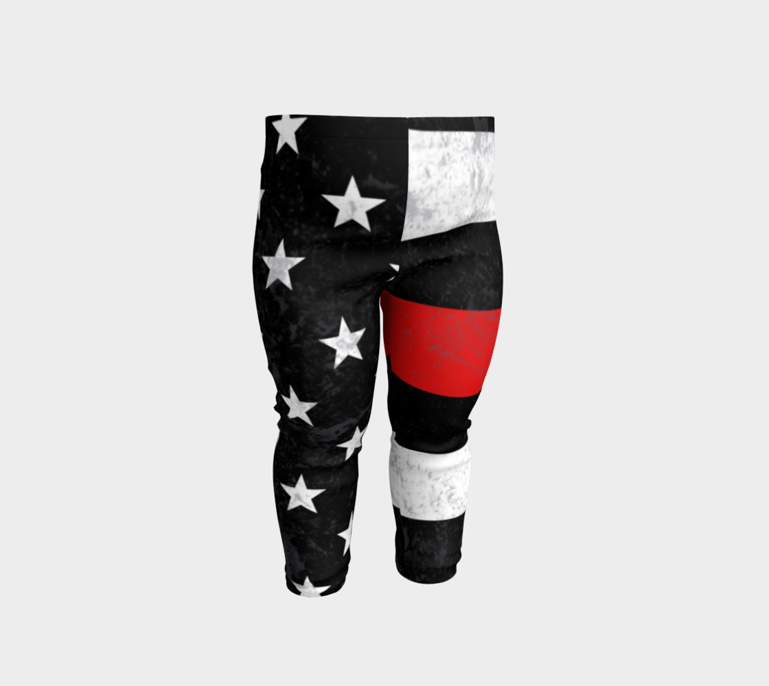 Thin Red Line Toddler Leggings 3D preview