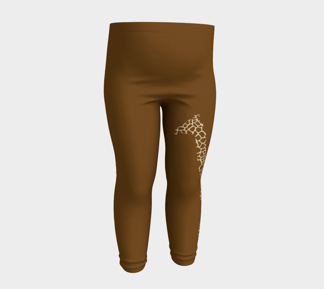 Baby and kid Giraffe Safari Leggings 3D preview