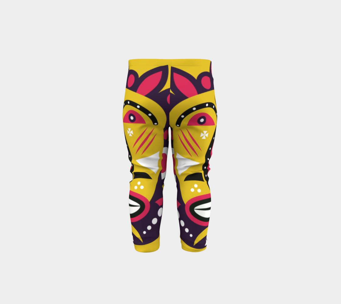 Kuba Face Mask Yellow Baby Leggings By Tm Selvam Shop Art Of Where