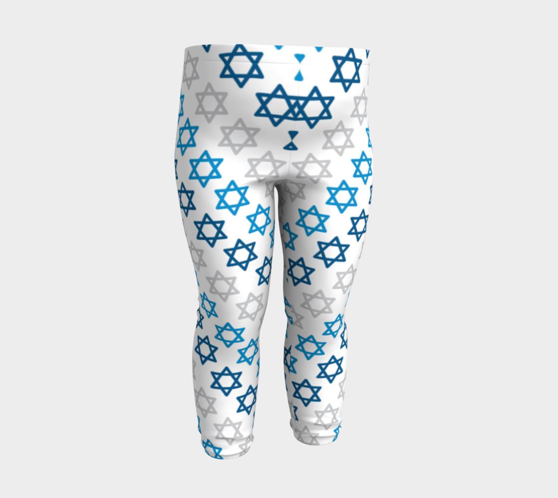 Aperçu de Star of David Hanukkah Leggings #3