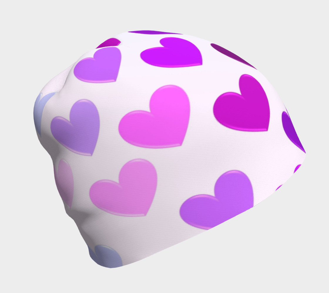 Purple Hearts Beanie preview #1