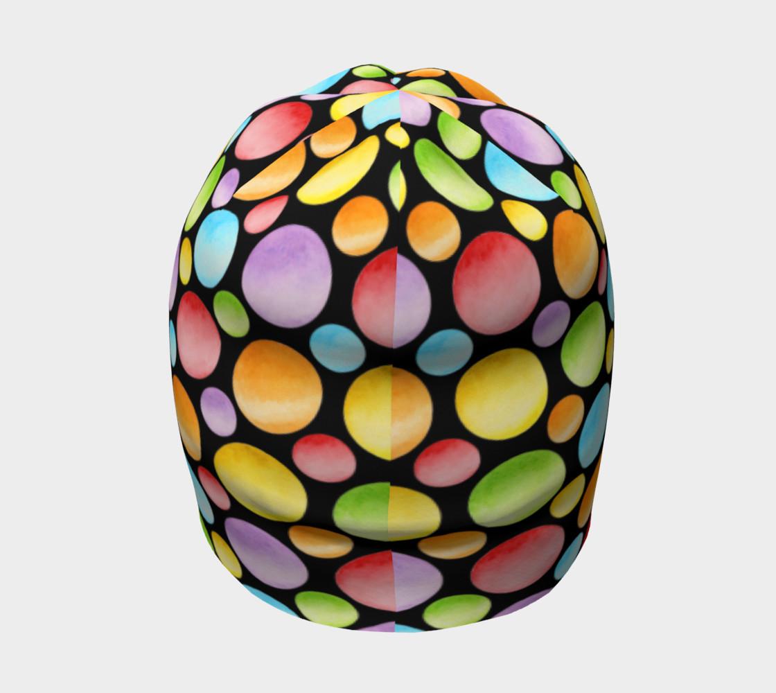 Aperçu de Rainbow Polka Dots Beanie #4