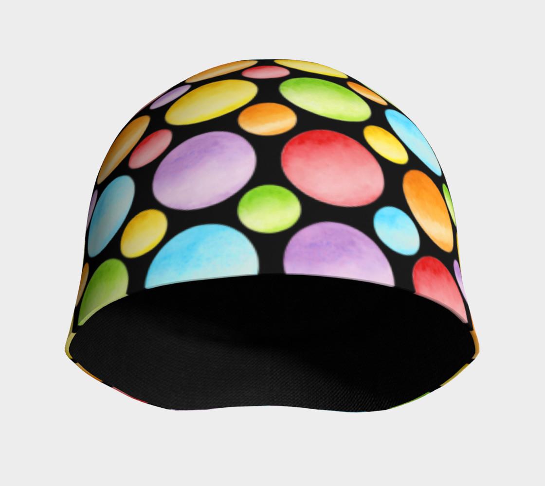 Aperçu de Rainbow Polka Dots Beanie #3