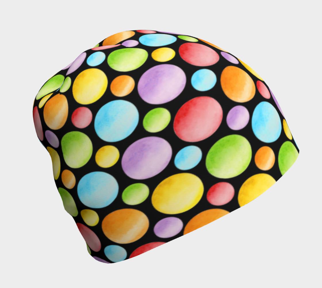 Aperçu de Rainbow Polka Dots Beanie #1