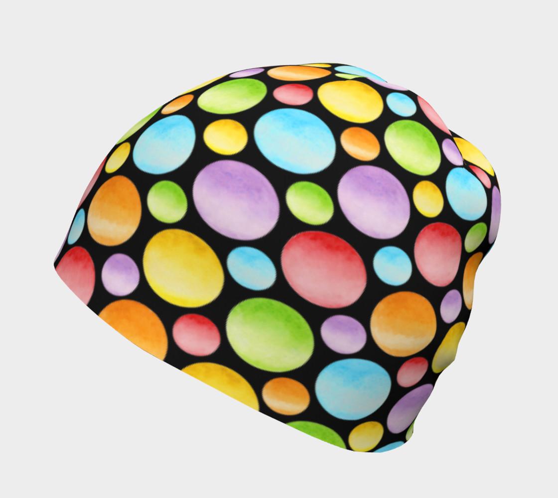 Aperçu de Rainbow Polka Dots Beanie #2
