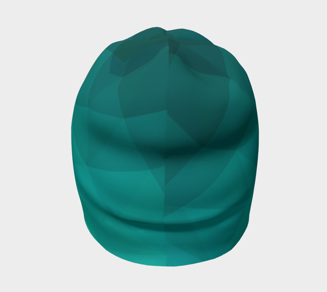 Green Low Poly Beanie preview #4