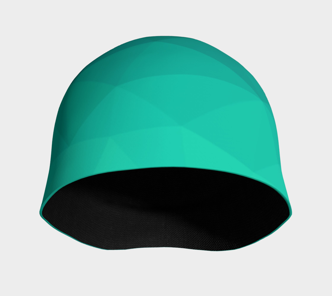 Green Low Poly Beanie preview #3