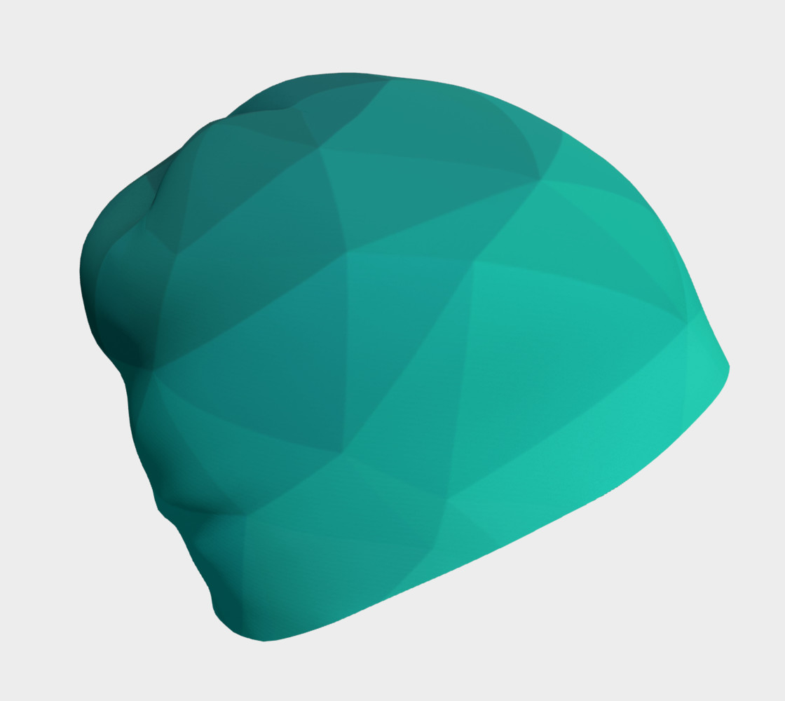 Green Low Poly Beanie preview #1