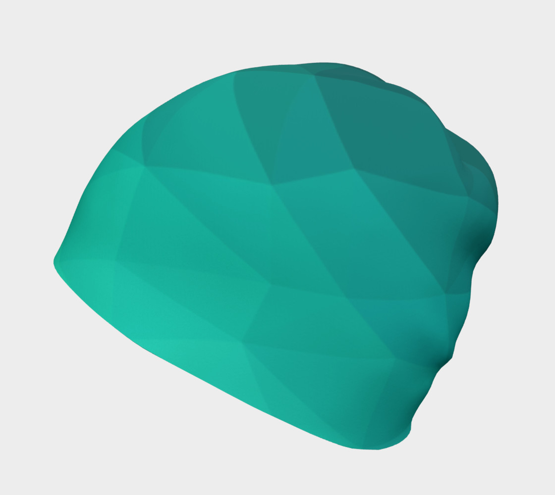 Green Low Poly Beanie preview #2