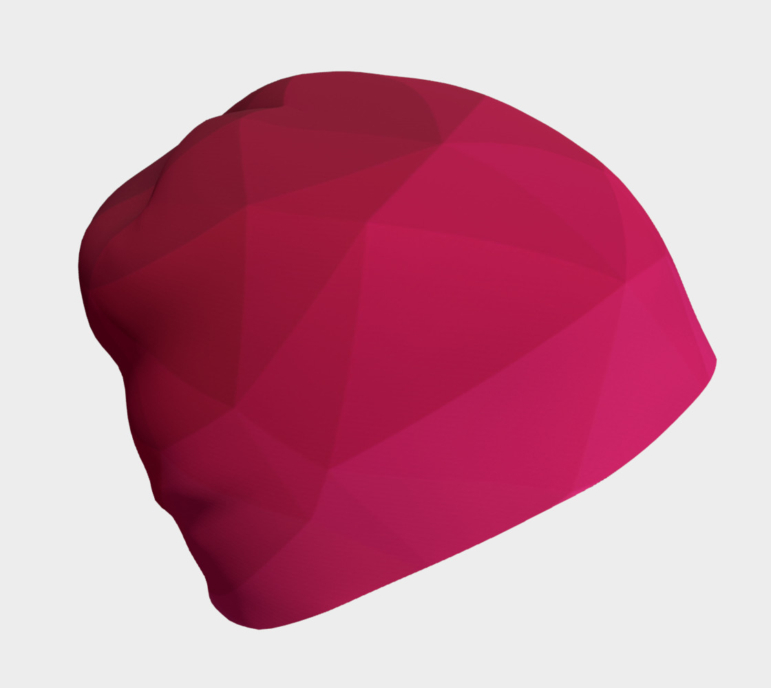 Pink Low Poly Beanie preview #1
