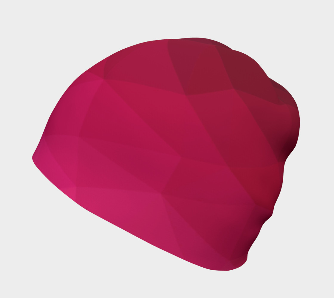 Pink Low Poly Beanie preview #2
