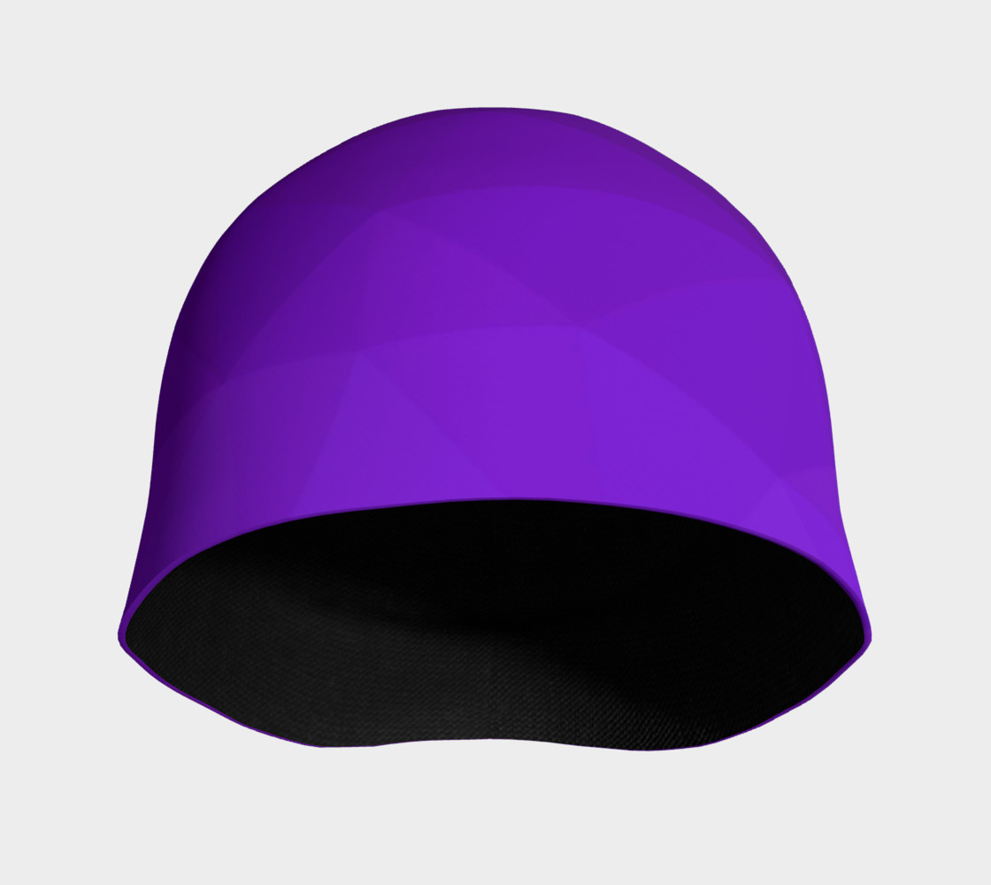 Purple Low Poly Beanie preview #3