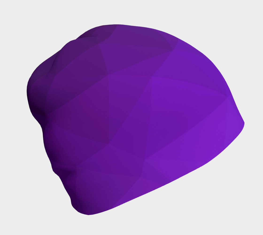 Purple Low Poly Beanie preview #1