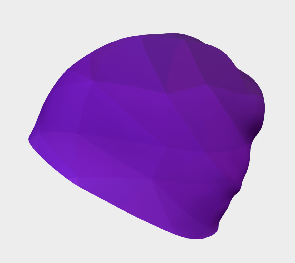 Purple Low Poly Beanie preview #2