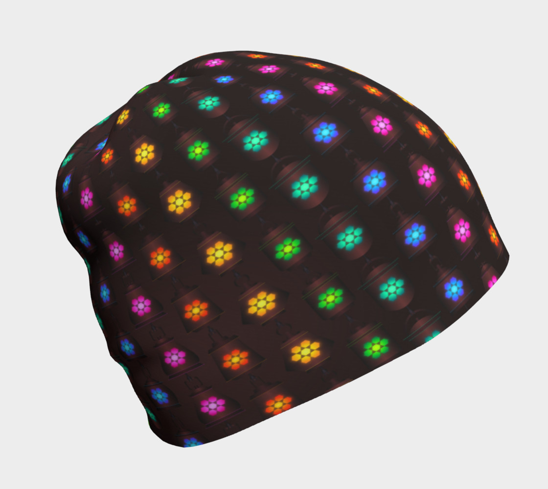 Rainbow Lanterns Beanie 3D preview