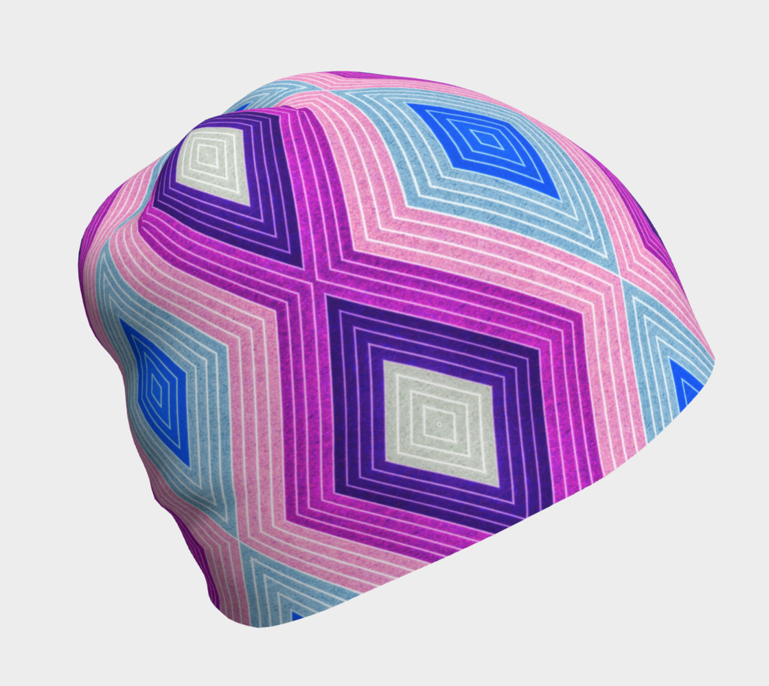 Geometric Candy Beanie 3D preview