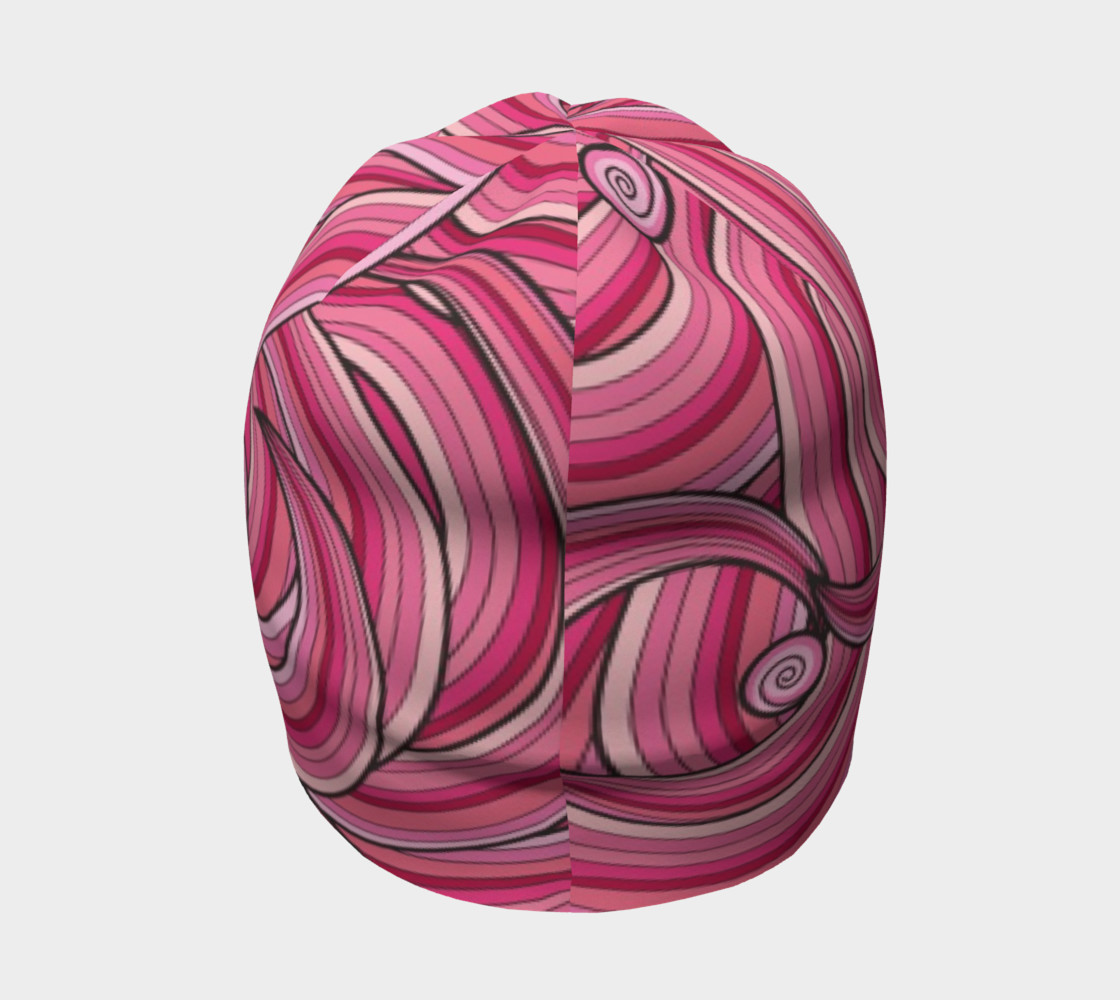 Pink Cotton Candy Swirl beanie preview #4