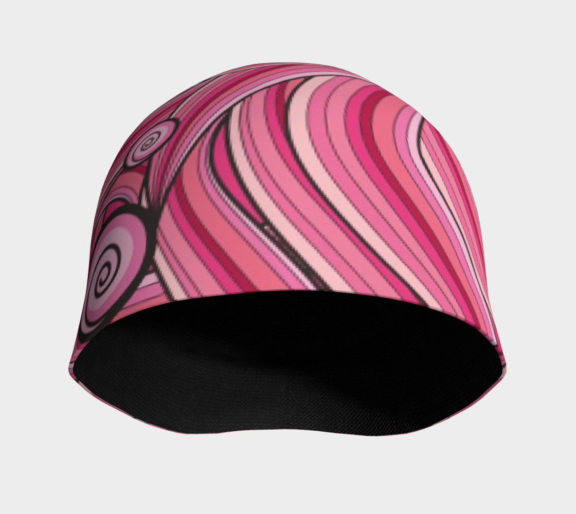 Pink Cotton Candy Swirl beanie preview #3
